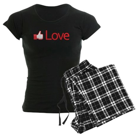 Love Button Women's Dark Pajamas