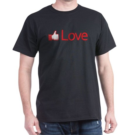 Love Button Men's Dark T-Shirt