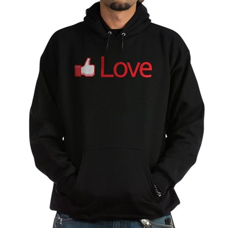 Love Button Men's Dark Hoodie