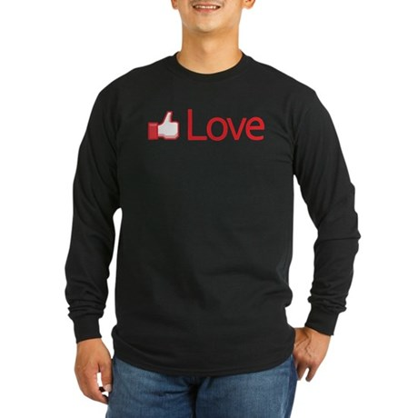 Love Button Men's Long Sleeve Dark T-Shirt