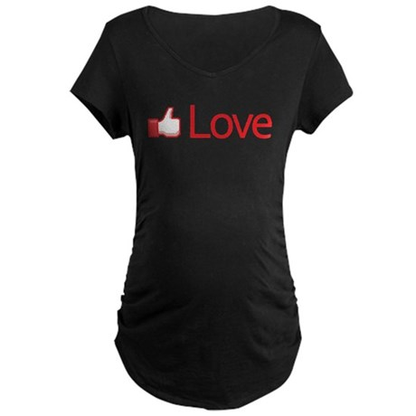 Love Button Maternity Dark T-Shirt