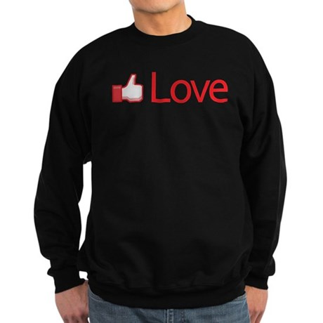 Love Button Men's Dark Sweatshirt