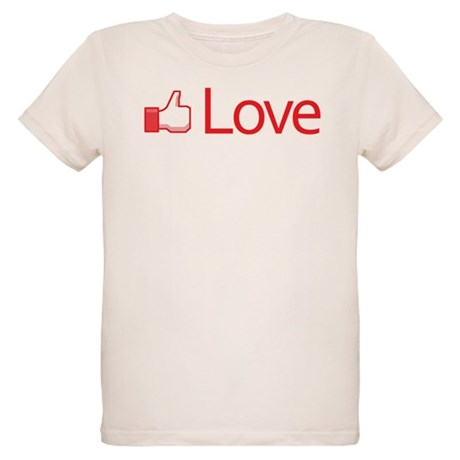 Love Button Organic Kids T-Shirt