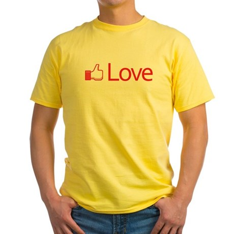 Love Button Men's Yellow T-Shirt