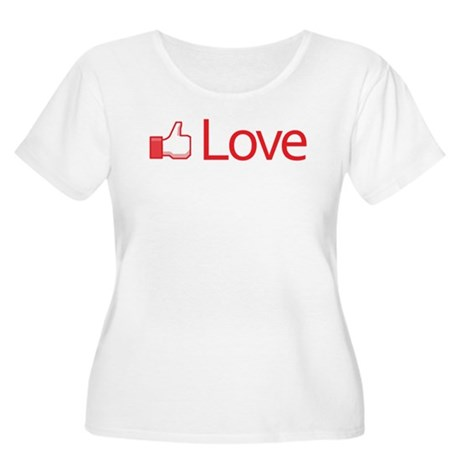 Love Button Women's Plus Size Scoop Neck T-Shirt