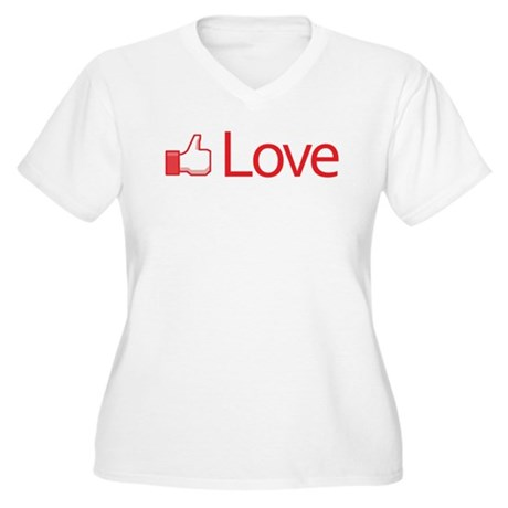 Love Button Women's Plus Size V-Neck T-Shirt