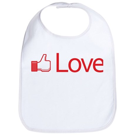 Love Button Baby Bib