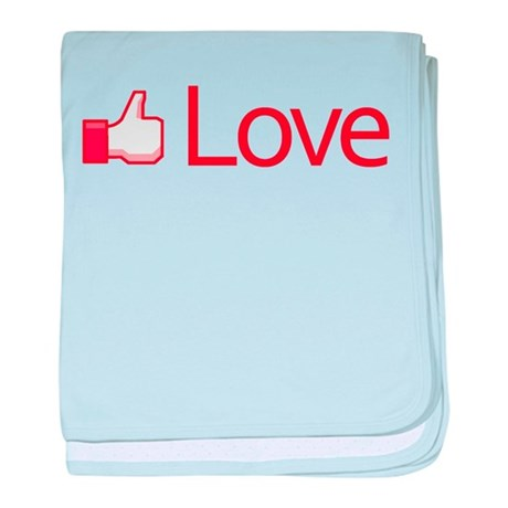 Love Button Baby Blanket