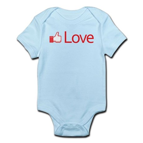 Love Button Infant Bodysuit