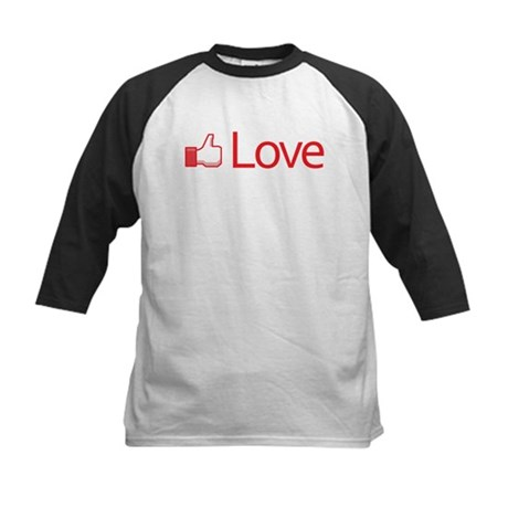 Love Button Kids Baseball Jersey