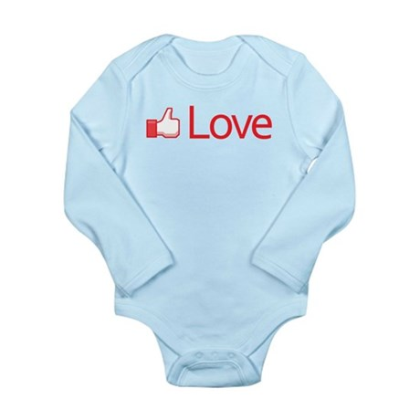 Love Button Long Sleeve Infant Bodysuit