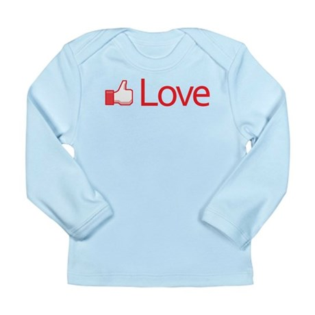 Love Button Long Sleeve Infant T-Shirt