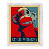 Sock Monkey Hope Throw Blanket