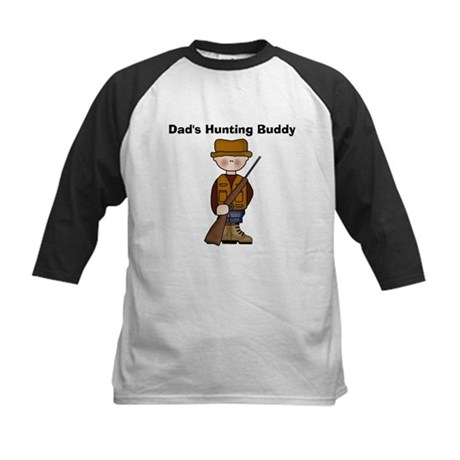 Dad's Hunting Buddy Kids Baseball Jersey