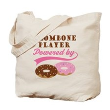 Trombone Player Powered By Donuts Tote Bag