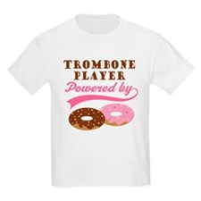 Trombone Player Powered By Donuts Kids Light T-Shi