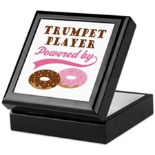 Trumpet Player Powered By Donuts Keepsake Box