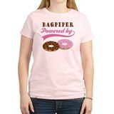 Bagpiper Powered By Donuts T-Shirt