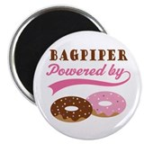 Bagpiper Powered By Donuts Magnet