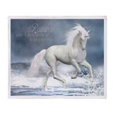 White Unicorn 1 Throw Blanket