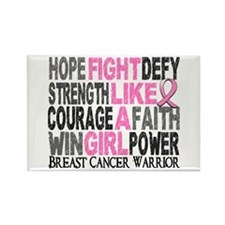Fight Like A Girl Breast Cancer Rectangle Magnet