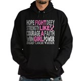 Fight Like A Girl Breast Cancer Hoodie