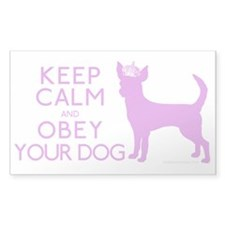 """Keep Calm and Obey Your Dog"" Decal"