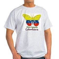 Mariposa Colombiana Ash Grey T-Shirt