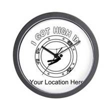 I Got High Zip (Personalized) Wall Clock