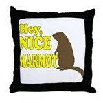 Lebowski: Nice Marmot! Throw Pillow