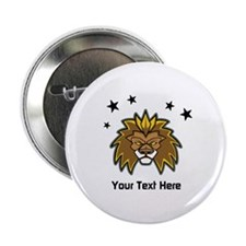 "Lion. Custom Text 2.25"" Button"