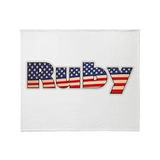 American Ruby Throw Blanket