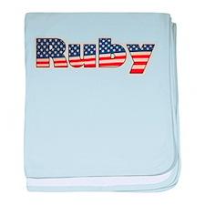 American Ruby baby blanket