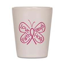 Breast Cancer Butterfly Hope Shot Glass