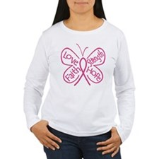 Breast Cancer Butterfly Hope T-Shirt