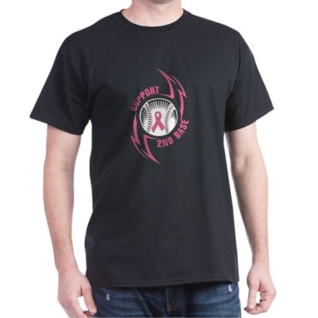 Support2ndBase Breast Cancer Dark T-Shirt