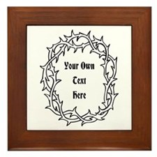 Black Thorns and Custom Text Framed Tile