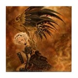 Steampunk Dark Angel Tile Coaster