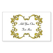 Gold Color Scrolls, Custom Text Decal
