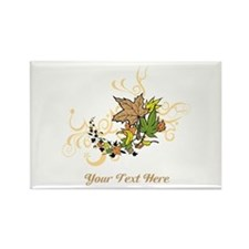 Autumn Leaves, Custom Text Rectangle Magnet