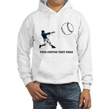 Baseball Player with Custom Text Jumper Hoody