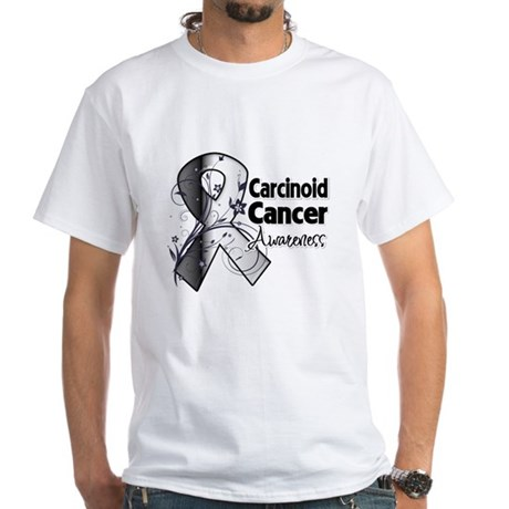 Carcinoid Cancer Awareness White T-Shirt