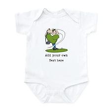 Golf Cartoon, Custom Text Infant Bodysuit