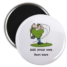 Golf Cartoon, Custom Text Magnet