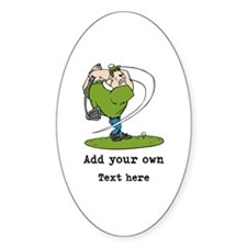 Golf Cartoon, Custom Text Decal