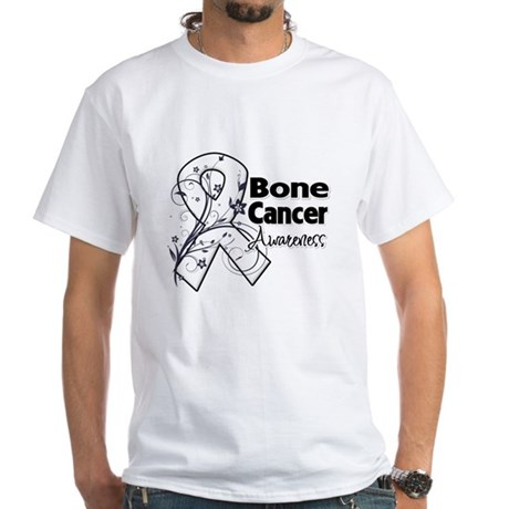 Bone Cancer Awareness White T-Shirt