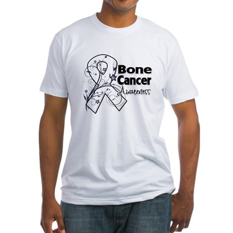 Bone Cancer Awareness Fitted T-Shirt