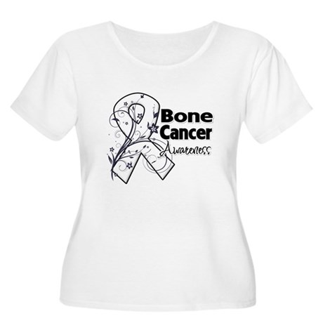 Bone Cancer Awareness Women's Plus Size Scoop Neck
