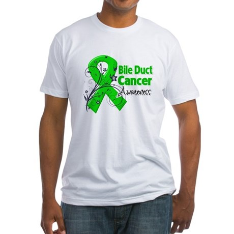 Bile Duct Cancer Awareness Fitted T-Shirt