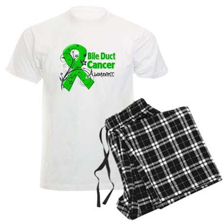 Bile Duct Cancer Awareness Men's Light Pajamas